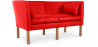 Buy Scandinavian design Sofa 2214 (2 seats) - Børge Mogensen style - Premium Leather Red 13919 with a guarantee
