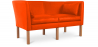 Buy Scandinavian design Sofa 2214 (2 seats) - Børge Mogensen style - Premium Leather Orange 13919 - in the UK