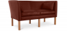 Buy Scandinavian design Sofa 2214 (2 seats) - Børge Mogensen style - Premium Leather Chocolate 13919 - prices