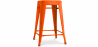 Buy Retro Tolix Stool 60cm Pauchard Style - Metal Orange 99933183 in the United Kingdom