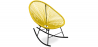 Buy Acapulco Rocking Chair - Black legs  Yellow 59411 home delivery