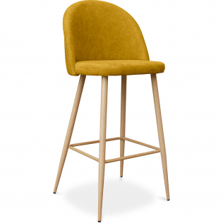 Buy Premium Evelyne bar stool scandinavian style - 76cm Yellow 59356 in the United Kingdom