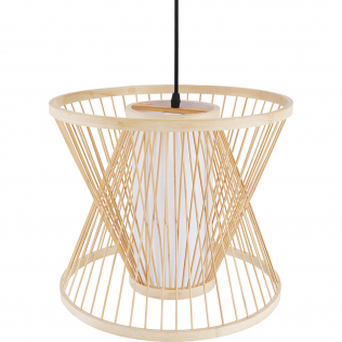 Buy Boho Style Bamboo Wooven Pendant Lamp Natural wood 59850 in the United Kingdom