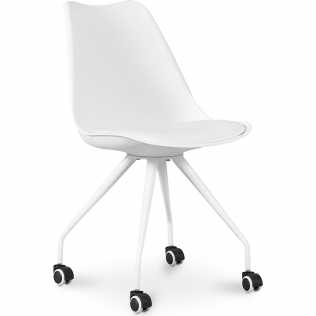 Buy Design Office Chair with Wheels - Canva White 59904 - in the UK