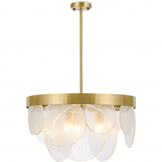 Buy Crystal Hanging  Lamp Gold 59928 at Privatefloor