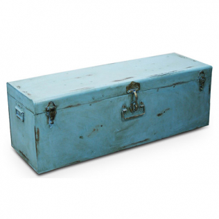 Buy Industrial vintage trunk Blue 58326 - in the UK