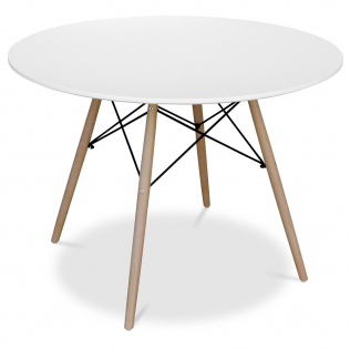 Buy Deswick Table 100cm - Wood White 58220 at Privatefloor