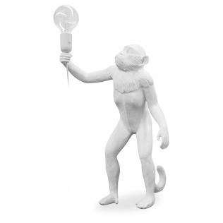 Buy Monkey Standing Design table lamp - Resin White 58443 - in the UK