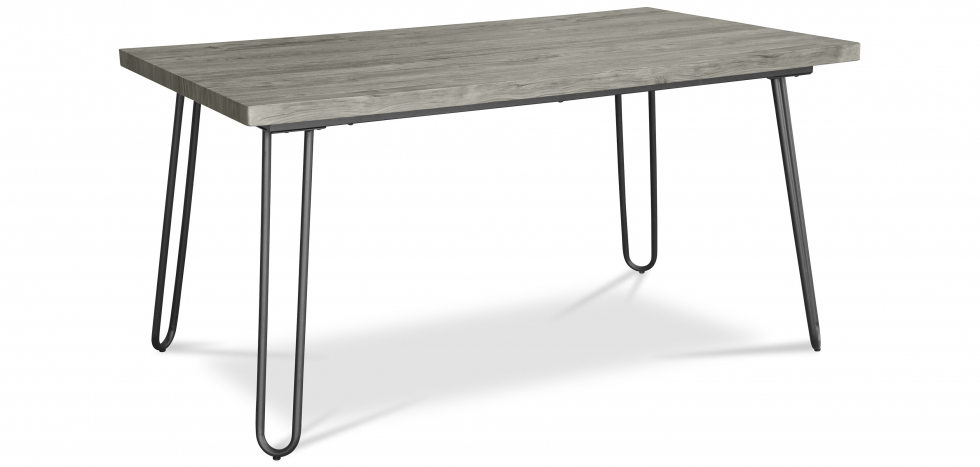 Buy 150x90 Dining table - Hairpin legs - Wood and metal Grey 59465 - in the UK