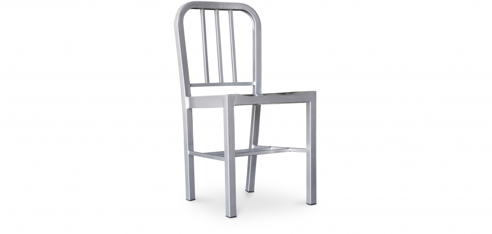 Buy Navy Style Design Chair - Steel Silver 50141 - in the UK