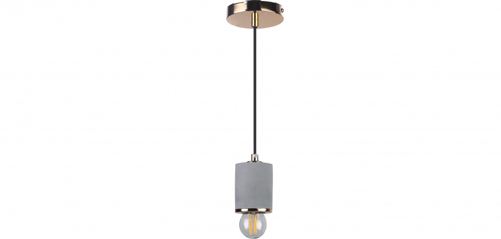 Buy Felippo hanging lamp - Metal and concrete Gold 59582 - in the UK