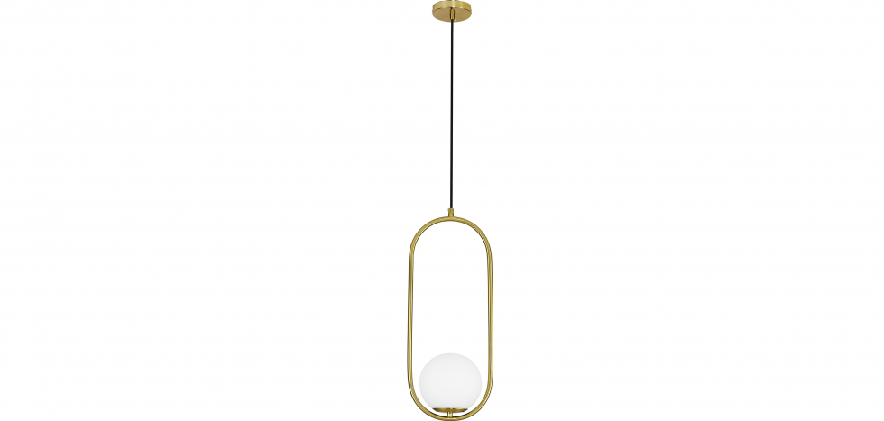 Buy Ruby Hanging Lamp - Metal and Glass Gold 59624 - in the UK