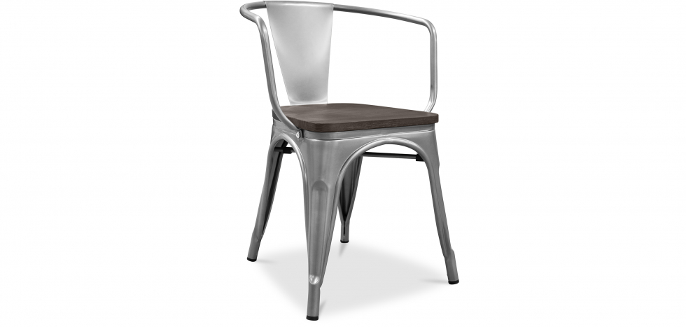 Buy A56 Tolix Armchair Wooden Pauchard Style New edition - Metal Steel 59810 - in the UK