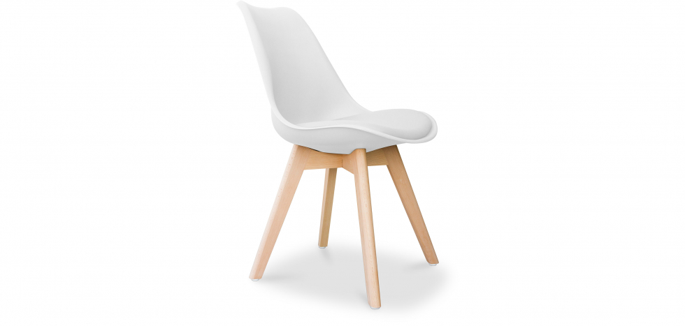 Buy Deswick Scandinavian design Premium Chair with cushion  White 58293 - in the UK