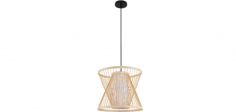 Buy Boho Style Bamboo Wooven Pendant Lamp Natural wood 59850 - in the UK