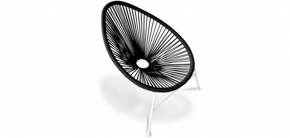 Buy Acapulco Chair white Legs Black 58295 - in the UK