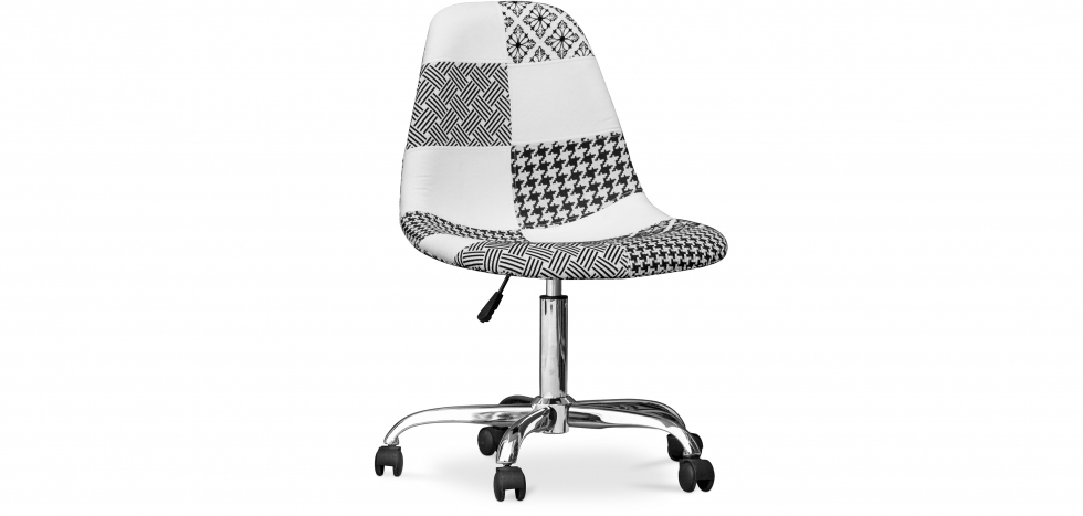 Buy Deswick Office Chair White And Black - Patchwork  White / Black 59864 - in the UK
