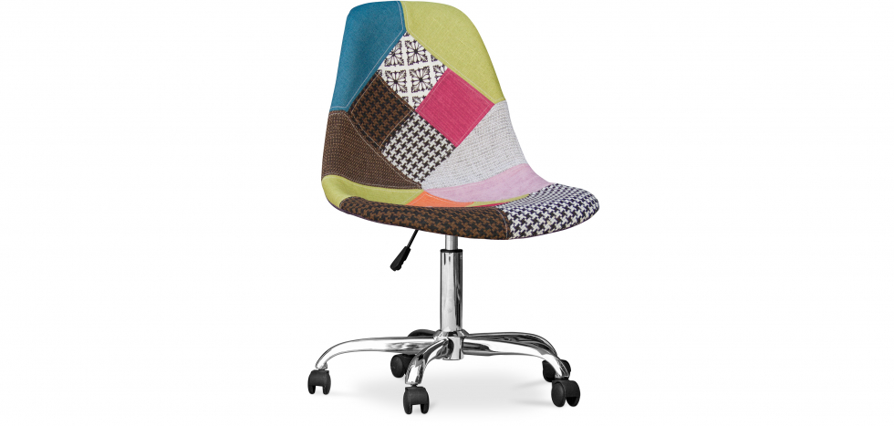 Buy Deswick Office Chair - Patchwork Simona  Multicolour 59866 - in the UK