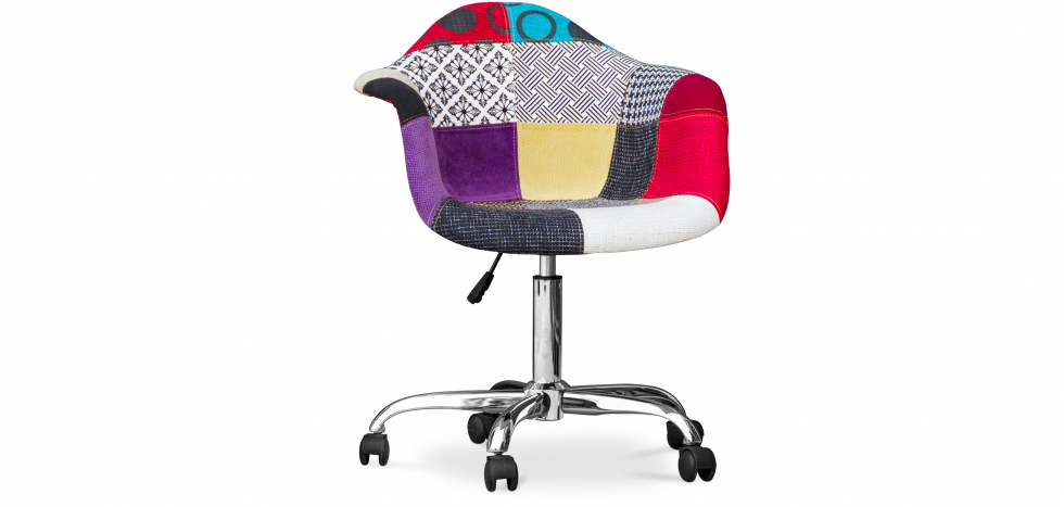 Buy Darwick Office Chair - Patchwork Ray  Multicolour 59869 - in the UK