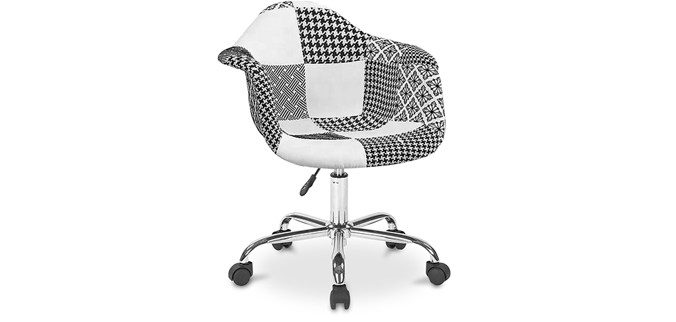 Buy Darwick Office Chair White And Black - Patchwork  White / Black 59870 - in the UK