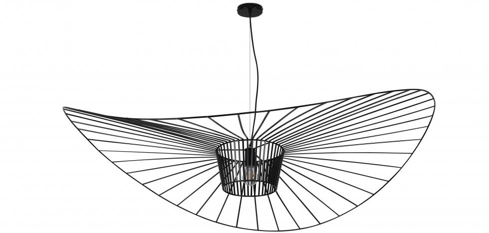 Buy Vertical Hanging Lamp 140cm - Metal Black 59884 - in the UK