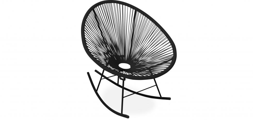 Buy Acapulco Rocking Chair - Black legs - New edition Black 59901 - in the UK
