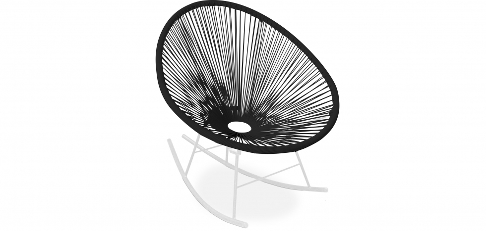 Buy Acapulco Rocking Chair - White legs - New edition Black 59902 - in the UK