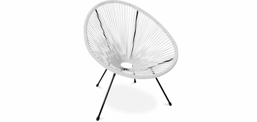 Buy Acapulco Chair - Black Legs - New edition White 59899 - in the UK