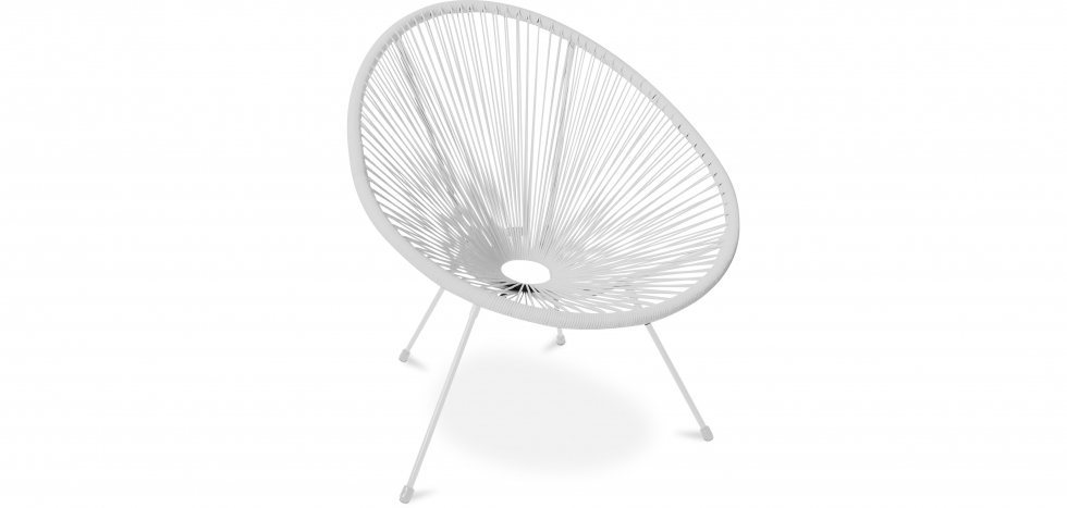 Buy Acapulco Chair - White Legs - New edition White 59900 - in the UK