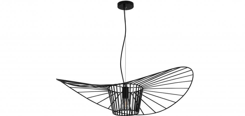 Buy Vertical Hanging Lamp 80cm - Metal Black 59903 - in the UK