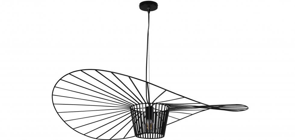 Buy Vertical Hanging Lamp 100cm - Metal Black 59905 - in the UK