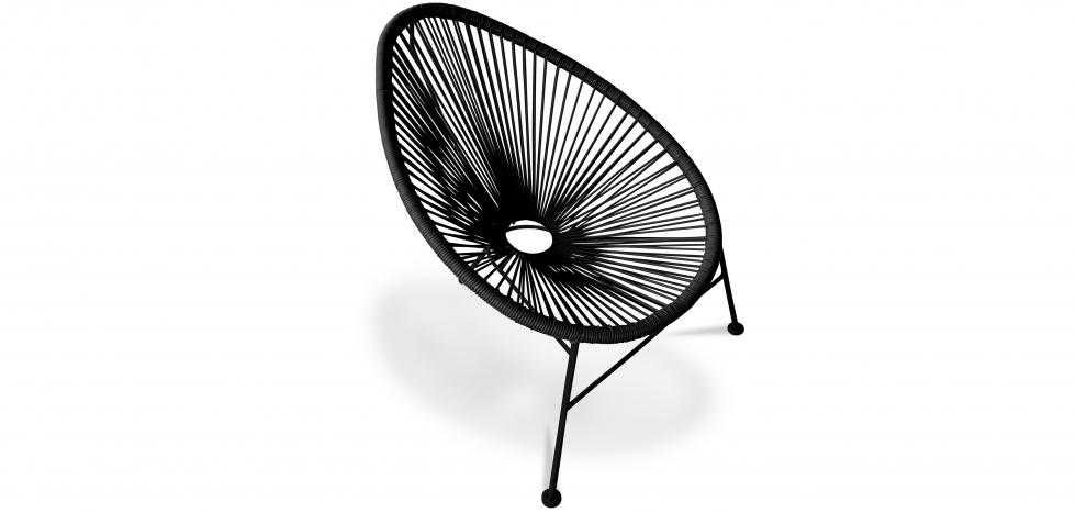 Acapulco Chair - Black Legs - Black