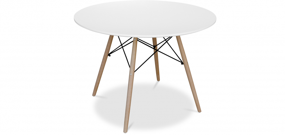 Buy Deswick Table 100cm - Wood White 58220 - in the UK