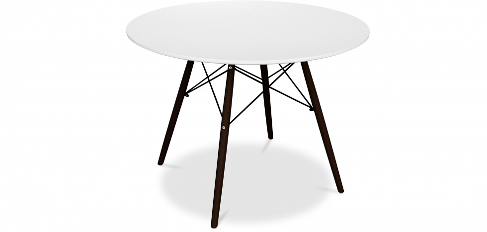 Buy Dark legs Deswick Table 100cm - Wood White 58355 - in the UK