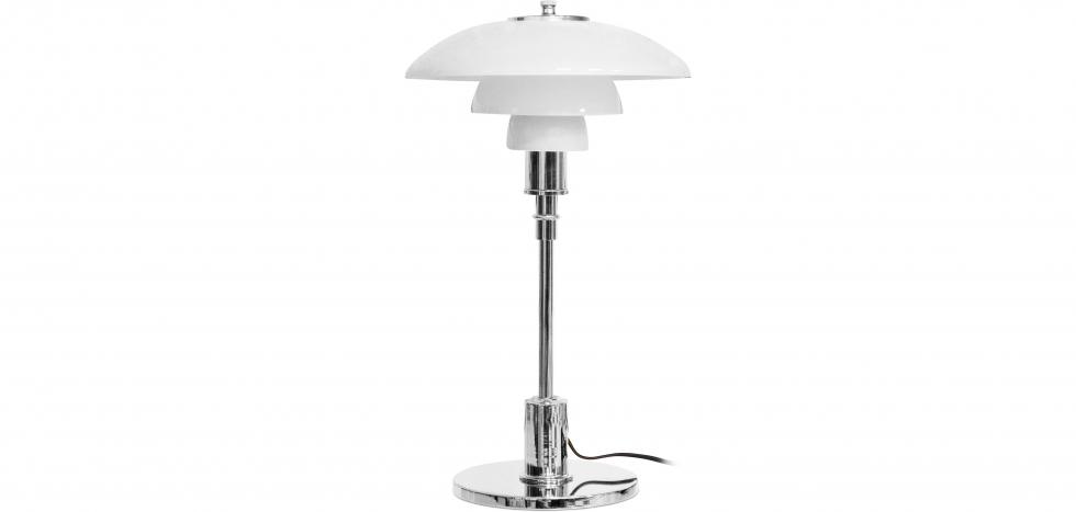 Buy PL 3/2 Desk Lamp - Steel/Opal Glass Steel 15226 - in the UK