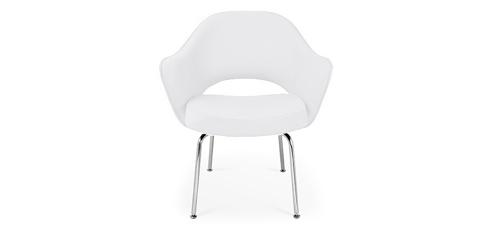 Buy Executive Chair Eero Saarinen style - Faux Leather White 15395 - in the UK