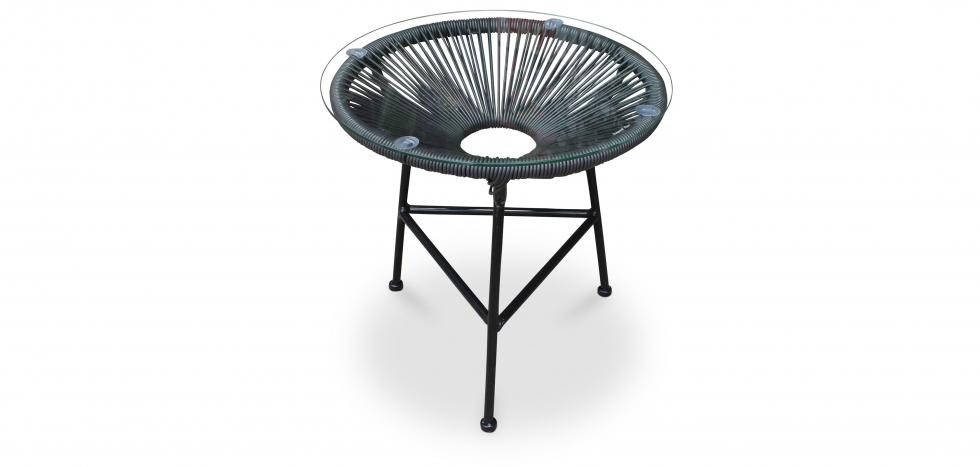 Buy Acapulco garden table Black 58571 - in the UK