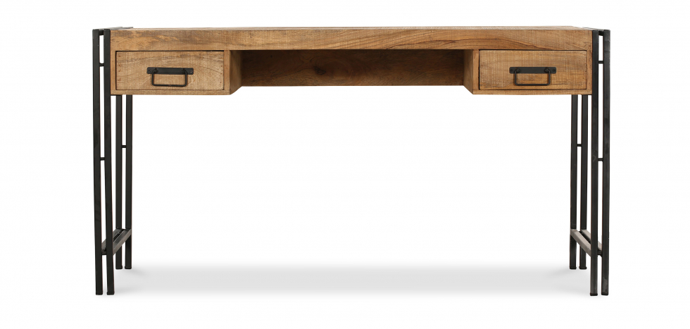 Buy Vintage industrial wooden desk Natural wood 58476 - in the UK