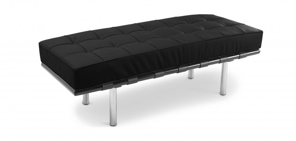 Buy Barcelona Bench Ludwig Mies van der Rohe Black 13219 - in the UK