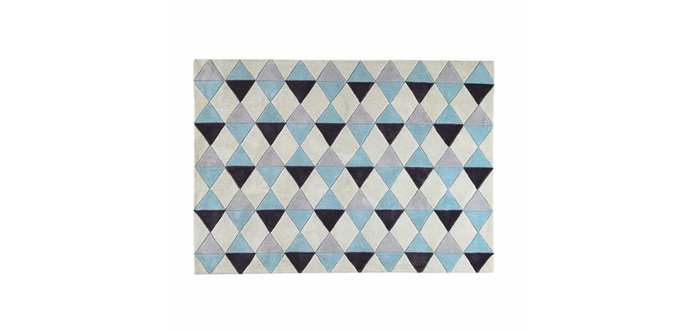 Buy Diamonds Wool Carpet Blue 58284 - in the UK