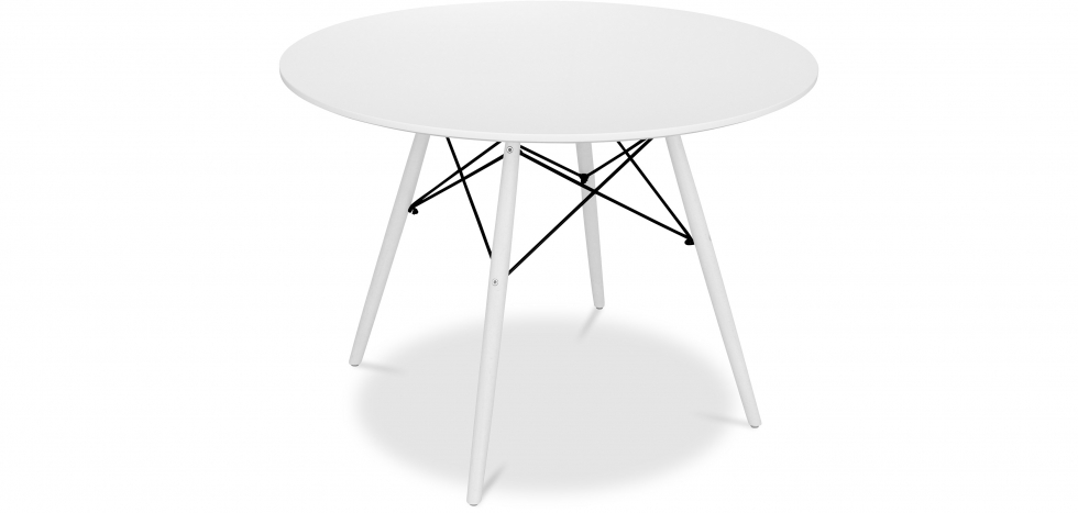 Buy White legged Deswick dinning table - 100cm White 58483 - in the UK