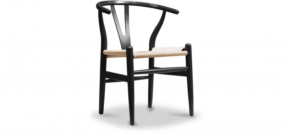 Buy Wish desing chair CW24 - Natural Seat Black 99916432 - in the UK