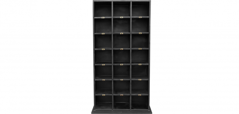 Buy Vintage Industrial Bookcase  Black 51335 - in the UK