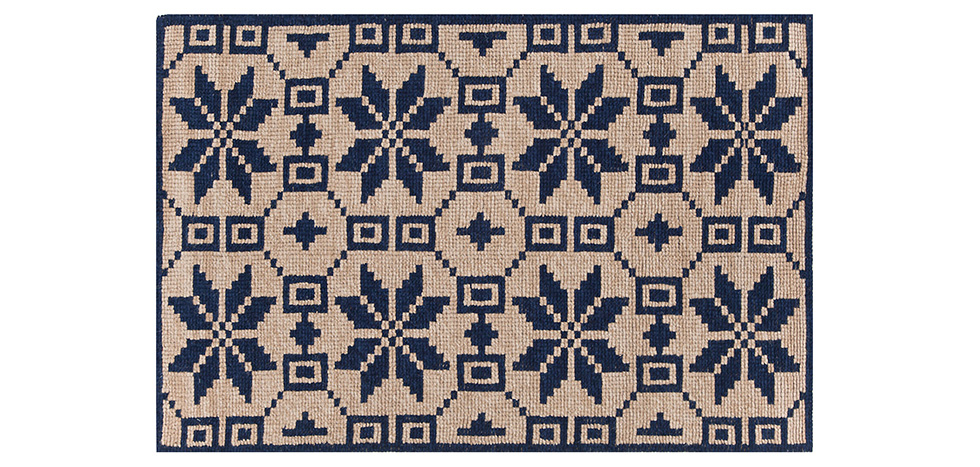 Buy Design Carpet Dark blue 58453 - in the UK