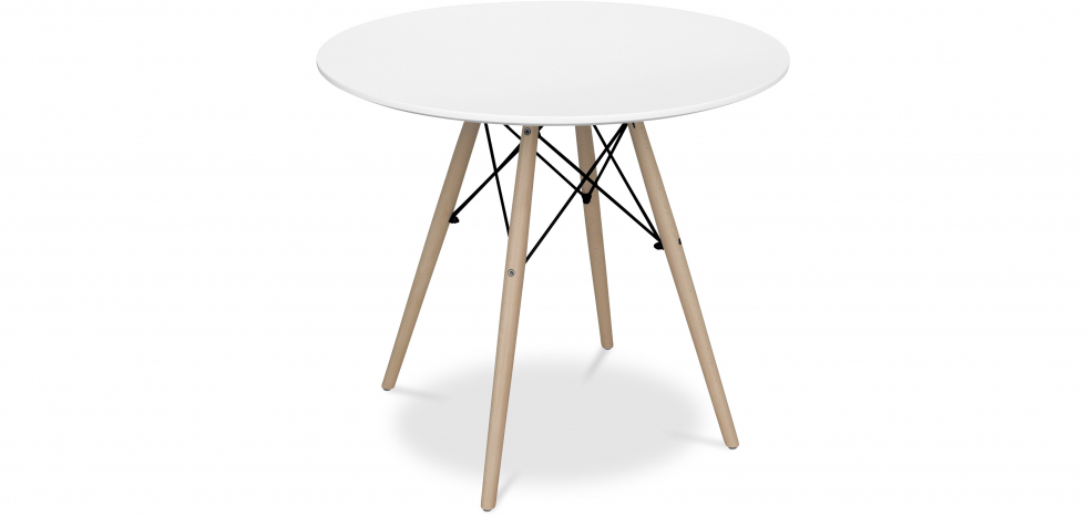 Buy 80cm Deswick Table - Wood White 58962 - in the UK