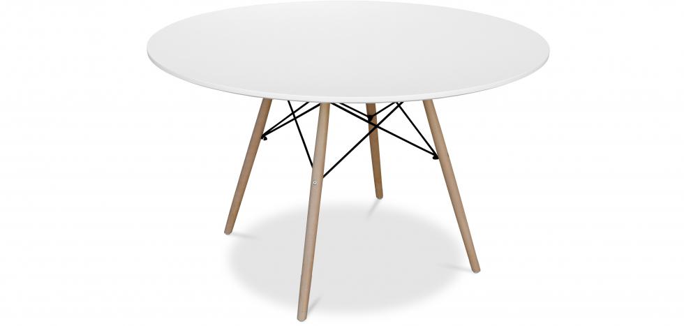 Buy Deswick Table 120cm - Wood White 58921 - in the UK