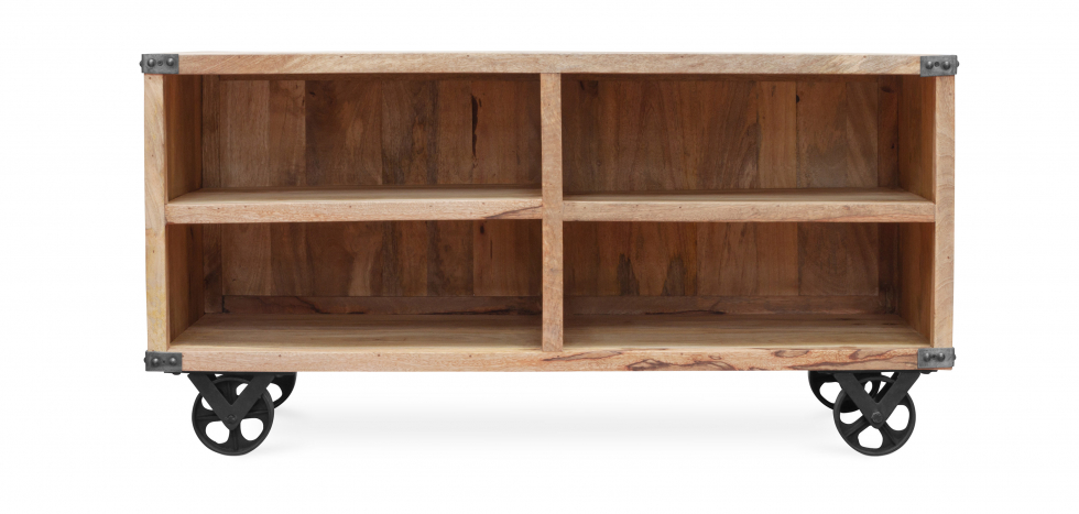Buy Industrial style TV cabinet - Kanda Natural wood 59071 - in the UK