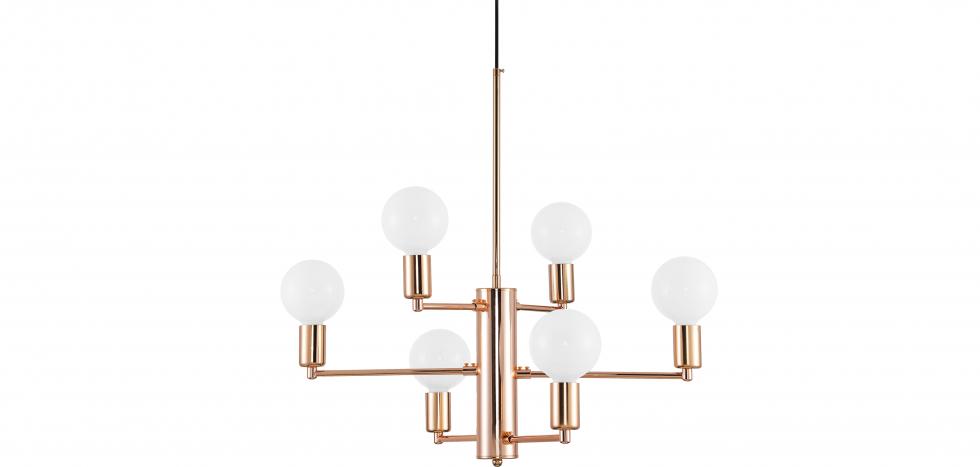 Buy Golden pendant lamp - Nally Gold 59030 - in the UK