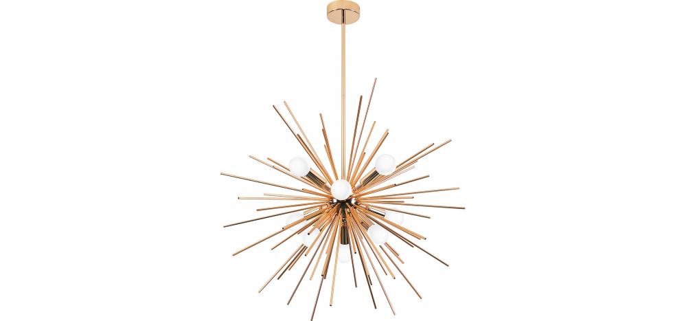 Buy Lydia 9 bulbs hanging lamp  - Metal Gold 59328 - in the UK