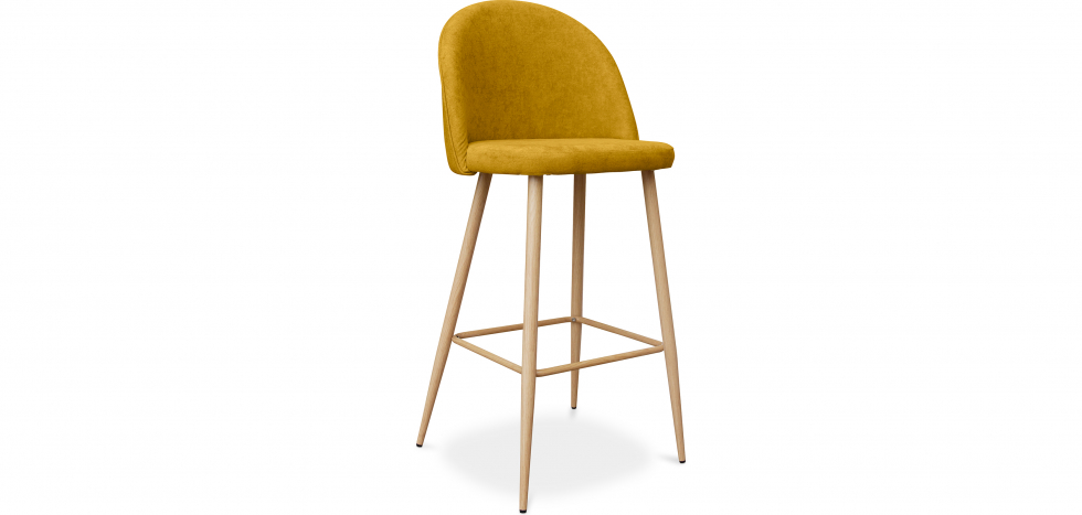 Buy Premium Evelyne bar stool scandinavian style - 76cm Yellow 59356 - in the UK
